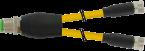 M12 M primy / 2x M8 F primy - Y-kabel