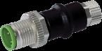Adapter - M12 M 3pin / M8 F 3pin