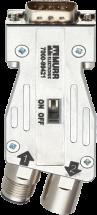 Adapter M12 / D-Sub 180° Profibus