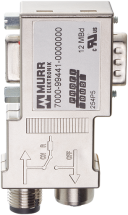 Adapter M12 / D-Sub 90° Profibus - Mini