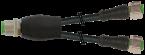 M12 M primy / 2x M12 F primy - Y-kabel