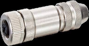 MOSA M12 F primy, 5pin, stineny, 4…6mm