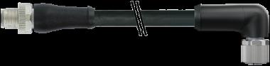 M12 Power M primy / M12 Power F uhlovy - L-kodovani, 5pin
