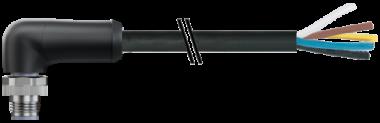 M12 Power M primy / volny konec -L-kodovani, 5pin