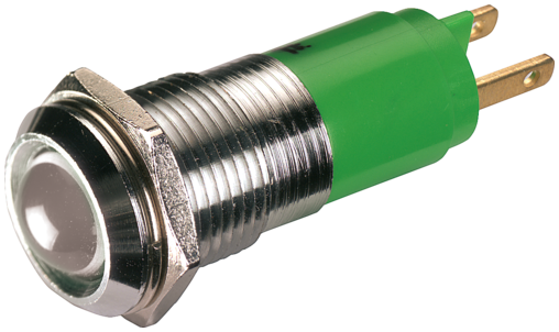 LED indikator - bila, 10mm
