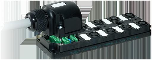 Pasivni rozbocovac MPV12 - 8xM12, 4pin