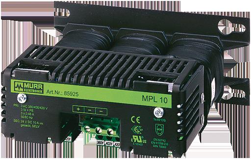 MPL napajeci zdroj, 3fazovy