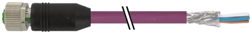 M12 F primy / volny konec, B-kodovani